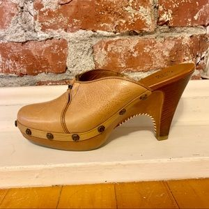 Cole Haan Leather Clogs Mules Size 8
